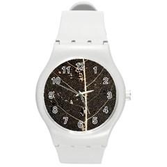 Vein Skeleton Of Leaf Round Plastic Sport Watch (m)