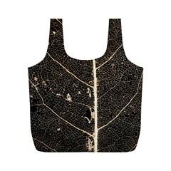 Vein Skeleton Of Leaf Full Print Recycle Bags (m)