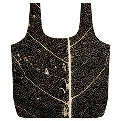 Vein Skeleton Of Leaf Full Print Recycle Bags (l)