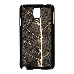 Vein Skeleton Of Leaf Samsung Galaxy Note 3 Neo Hardshell Case (black)