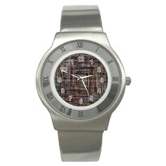 Unique Pattern Stainless Steel Watch