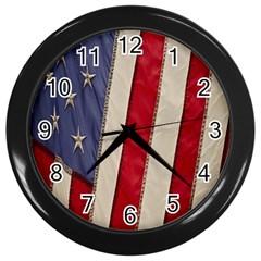 Usa Flag Wall Clocks (black)