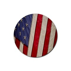 Usa Flag Rubber Coaster (round)
