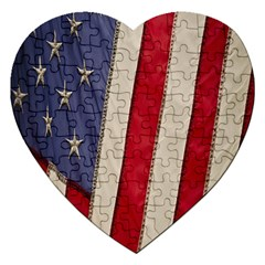 Usa Flag Jigsaw Puzzle (heart)