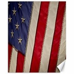 Usa Flag Canvas 11  X 14