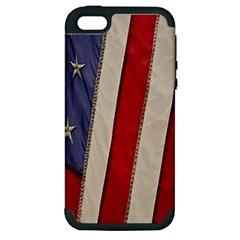 Usa Flag Apple Iphone 5 Hardshell Case (pc+silicone)
