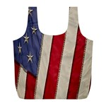 Usa Flag Full Print Recycle Bags (L)  Front