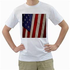 Usa Flag Men s T Shirt (white)