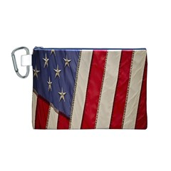 Usa Flag Canvas Cosmetic Bag (m)
