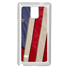 Usa Flag Samsung Galaxy Note 4 Case (white)