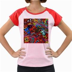 Vector Art Pattern Women s Cap Sleeve T Shirt