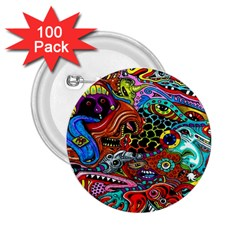 Vector Art Pattern 2 25  Buttons (100 Pack)