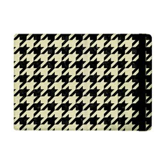 Houndstooth2 Black Marble & Beige Linen Apple Ipad Mini Flip Case