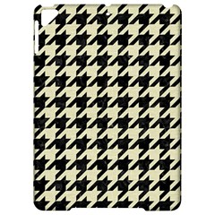 Houndstooth2 Black Marble & Beige Linen Apple Ipad Pro 9 7   Hardshell Case