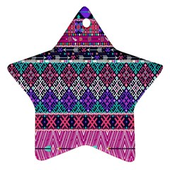 Tribal Seamless Aztec Pattern Ornament (star)