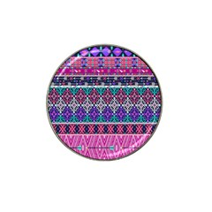 Tribal Seamless Aztec Pattern Hat Clip Ball Marker