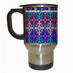 Tribal Seamless Aztec Pattern Travel Mugs (white)