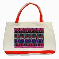 Tribal Seamless Aztec Pattern Classic Tote Bag (red)