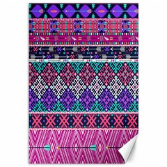 Tribal Seamless Aztec Pattern Canvas 12  X 18