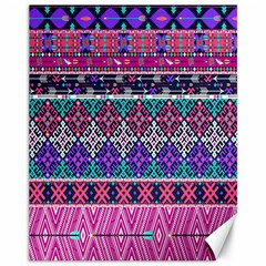 Tribal Seamless Aztec Pattern Canvas 11  X 14