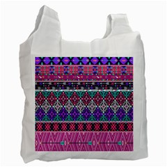 Tribal Seamless Aztec Pattern Recycle Bag (two Side)
