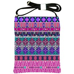 Tribal Seamless Aztec Pattern Shoulder Sling Bags