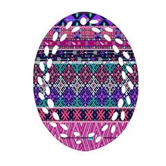 Tribal Seamless Aztec Pattern Ornament (oval Filigree)
