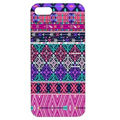Tribal Seamless Aztec Pattern Apple Iphone 5 Hardshell Case With Stand