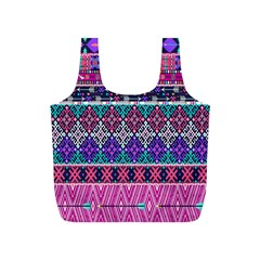 Tribal Seamless Aztec Pattern Full Print Recycle Bags (s)