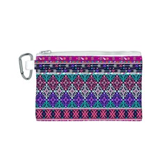 Tribal Seamless Aztec Pattern Canvas Cosmetic Bag (s)