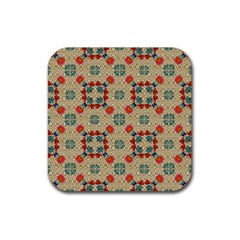 Traditional Scandinavian Pattern Rubber Coaster (square)
