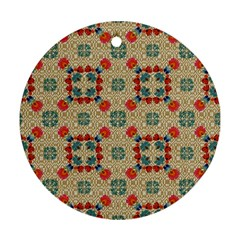Traditional Scandinavian Pattern Round Ornament (two Sides)