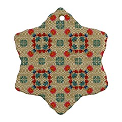Traditional Scandinavian Pattern Snowflake Ornament (two Sides)