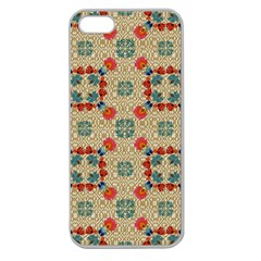 Traditional Scandinavian Pattern Apple Seamless Iphone 5 Case (clear)