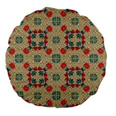 Traditional Scandinavian Pattern Large 18  Premium Round Cushions