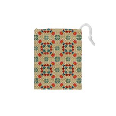 Traditional Scandinavian Pattern Drawstring Pouches (xs)