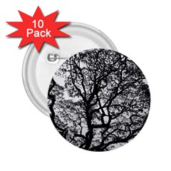 Tree Fractal 2 25  Buttons (10 Pack)