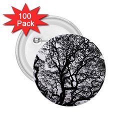Tree Fractal 2 25  Buttons (100 Pack)