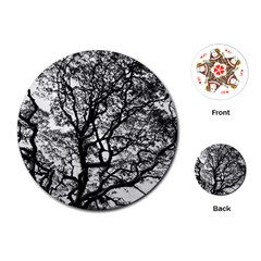 Tree Fractal Playing Cards (round)