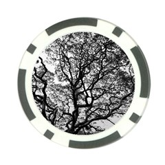 Tree Fractal Poker Chip Card Guard