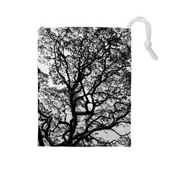 Tree Fractal Drawstring Pouches (large)