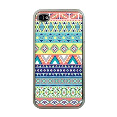 Tribal Print Apple Iphone 4 Case (clear)