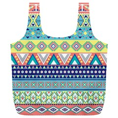 Tribal Print Full Print Recycle Bags (l)