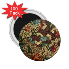 Traditional Batik Art Pattern 2 25  Magnets (100 Pack)