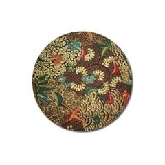 Traditional Batik Art Pattern Magnet 3  (round)