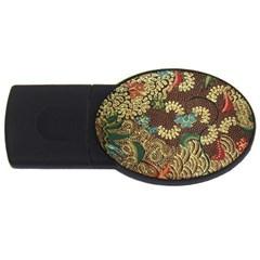 Traditional Batik Art Pattern Usb Flash Drive Oval (2 Gb)