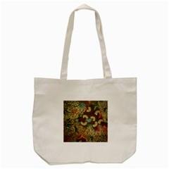 Traditional Batik Art Pattern Tote Bag (cream)