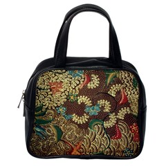 Traditional Batik Art Pattern Classic Handbags (one Side)
