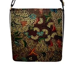 Traditional Batik Art Pattern Flap Messenger Bag (l)