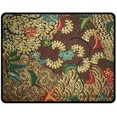 Traditional Batik Art Pattern Double Sided Fleece Blanket (medium)
